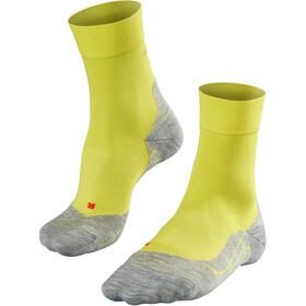 Falke RU4 - Calcetines Running Hombre - amarillo